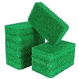 Paquete de 10 esponjas de silicona, sin olor, almohadilla de silicona reutilizable para fregar platos, utensilios de cocina, fregadero, baño, limpieza antiarañazos, verde