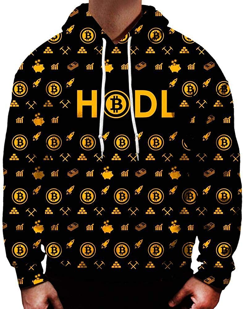 Arlington Mall On Cue Apparel Bitcoin Hoodie Max 74% OFF Gold HODL