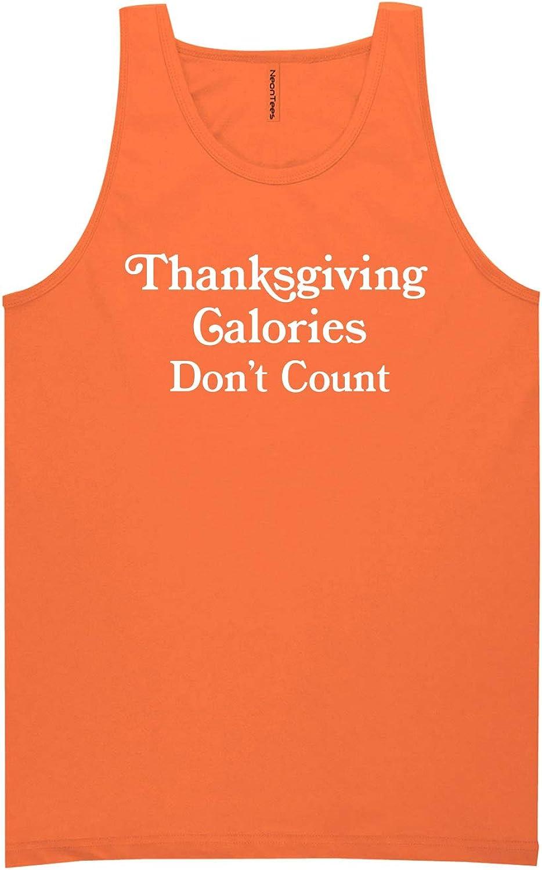 zerogravitee Thanksgiving Calories Don't Count Neon Orange Tank Top - XX-Large