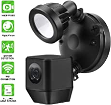 LIZVIE Floodlight Camera Motion Activated Detection HD Home Security Wireless Out Door Cam with Two-Way Audio Talk and Siren Alarm