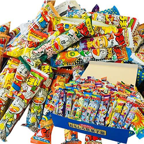 おもしろ駄菓子箱(長方形)付き!うまい棒15種類 5本づつ合計75本 詰め合わせセット