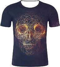 Heren T-shirt met korte mouwen 3D Skull Frame Prin...