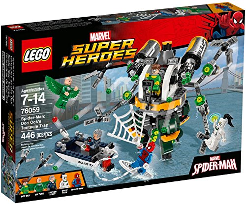 LEGO Super Heroes 76059 Spider-Man: Doc Ock's Tentacle Trap Building Kit (446 Piece) by LEGO