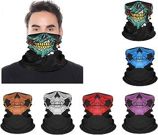 3Pcs Multifunctional Headwear Face Mask Cowboy Bandanas for Men Women Head Scarf Novelty Print Head Wrap Scarf Wristband f...