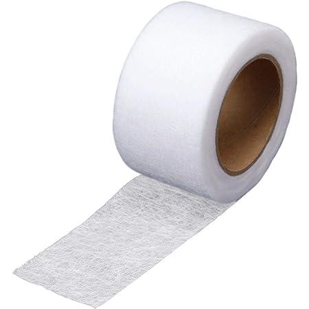 コモライフ アイロン接着テープ 25m 布用 熱接着 裾上げ 洗濯可能 すそあげ 仮縫い 衣装製作 補修 手芸用 簡単 ゼッケン カーテン ズボン 衣服 裁縫道具不要 ホワイト 小