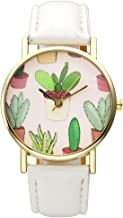 Top Plaza Women Fashion White PU Leather Wrist Watch Rhombus Rhinestone Rose Gold Case Non Scale Analog Quartz Watch
