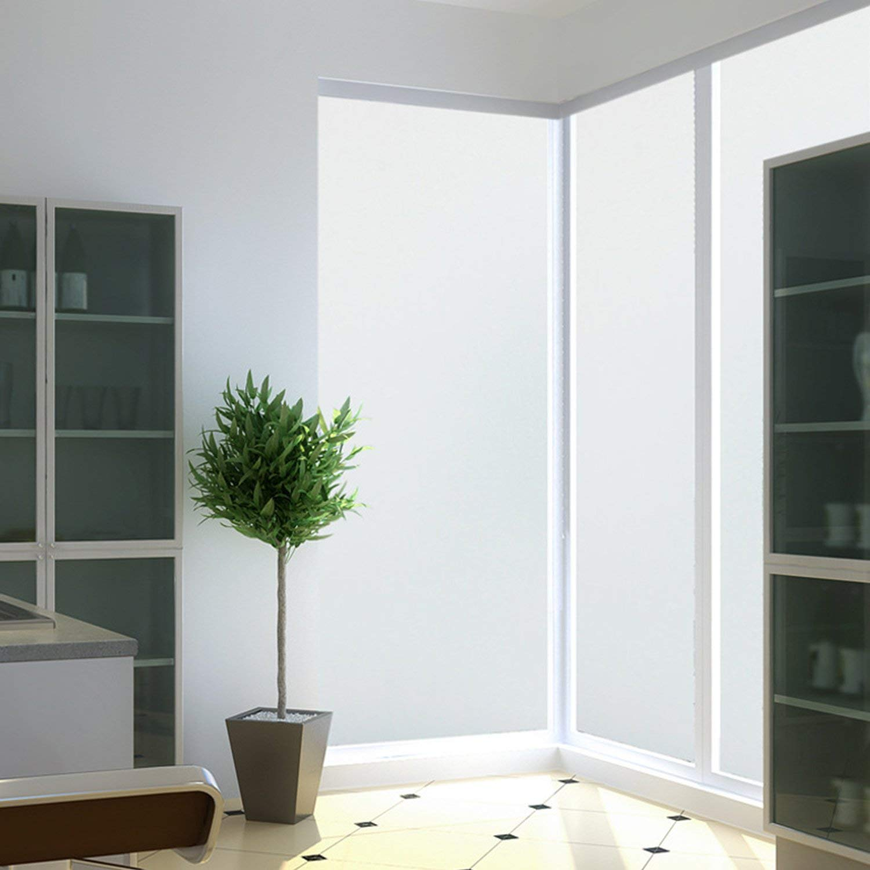 MUHOO - Lámina de Vidrio Opaco para Ventanas, autoadhesiva, Opaca, para baño, Cocina, Ventana de baño, Oficina, 44 x 200 cm, plástico, Mate, 44 x 200 cm: Amazon.es: Hogar