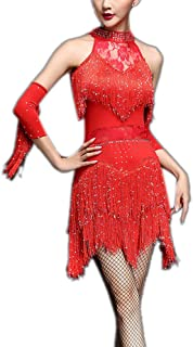 Fringe Great Gatsby Tango Dance Theme Woman Dress Outfits for Adults
