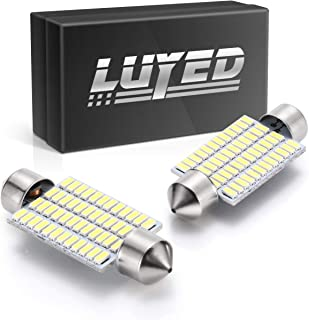 LUYED 2 X 570 Lumens Super Bright 3014 48-EX Chipsets 569 578 211-2 212-2 LED Bulbs Used for Dome Light,Xenon White