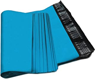Amiff Premium Quality 2.5 mil Thickness Blue Poly Mailer Bags 12 x 15 1/2 (12 x 15.5). Pack of 100. Self Sealing. Large Size. Sky Blue mailing Bags. Packaging & Shipping envelopes. Wrapping mailers.