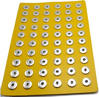 Ladieshow Snap Button Jewelry Yellow PU Leather Display Board for 12mm 18mm 20mm