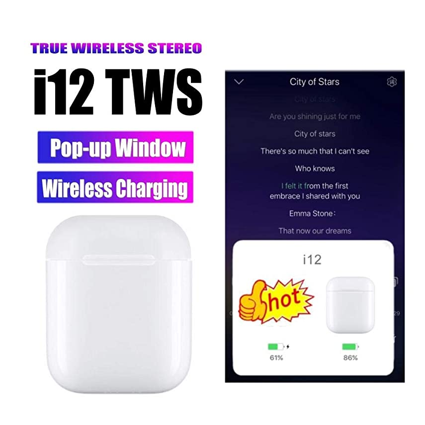 生き残ります未払い非行i12 TWSワイヤレス充電Bluetoothワイヤレスイヤホンインナーイヤー型IOS Androidスマートフォンpk i10 i11 i13 i15 tws