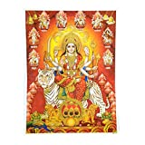 Bild Durga auf Tiger 30 x 40 cm Gottheit Hinduismus