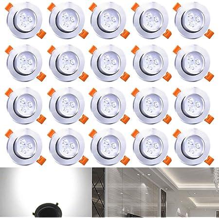 12X Einbauleuchte Einbaustrahler 3W//5W//7W LED LED Treiber Deckenleuchte