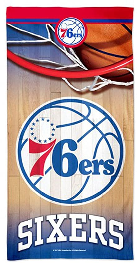 不調和きゅうり奇跡的なWinCraft Philadelphia 76ersビーチタオルwithプレミアムSpectraグラフィックス30?x 60?cm