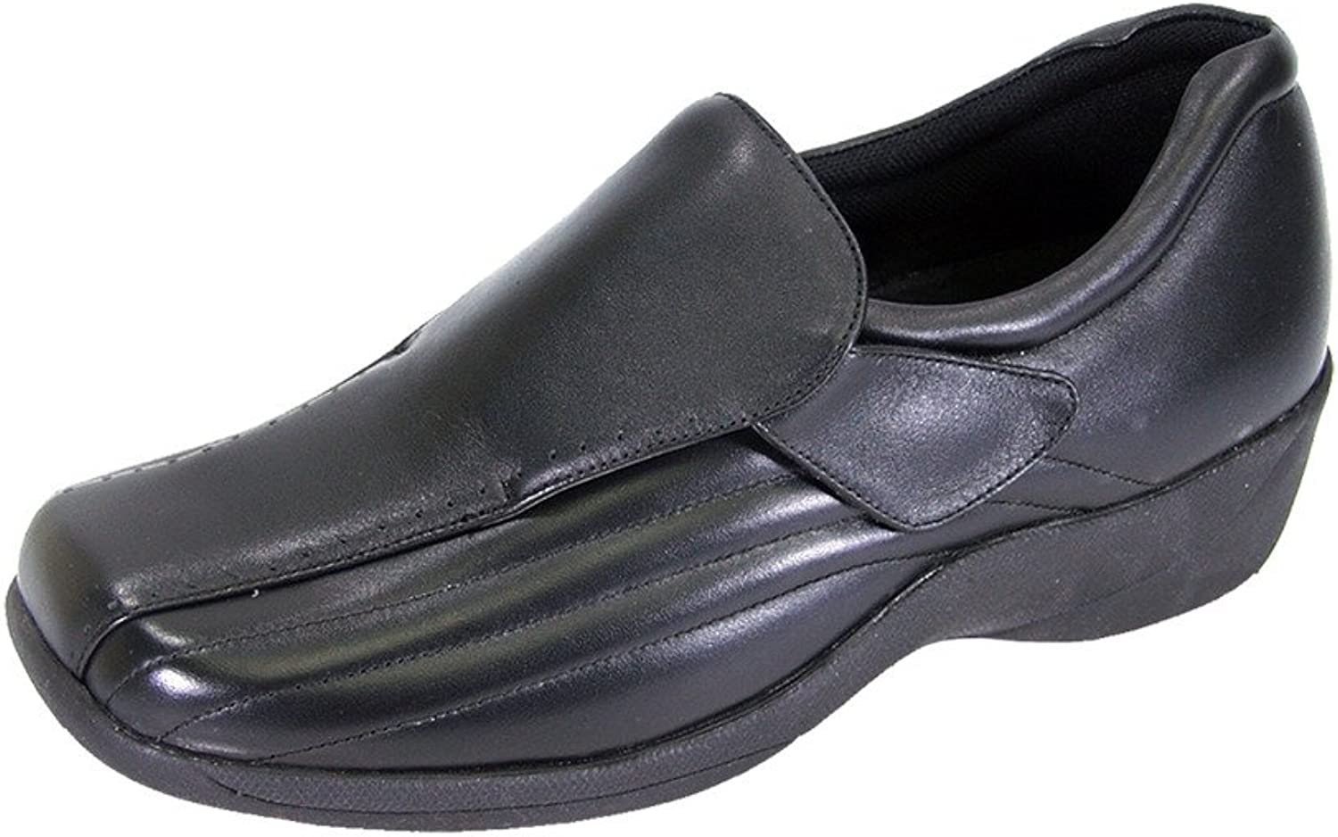 24 Hour Comfort Odele Women Wide Width Trendy Elegant Durable Cushioned Leather Slip On Work shoes
