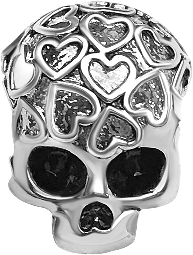 JMQJewelry Skull Charm Halloween Charm Heart Charms for Bracelets Women Men Girl Jewelry