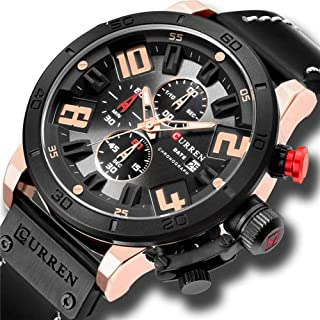 Men's Watches Luxury Watch Men Military Leather Sports Watches Waterproof Male Clock Quartz Wristwatches