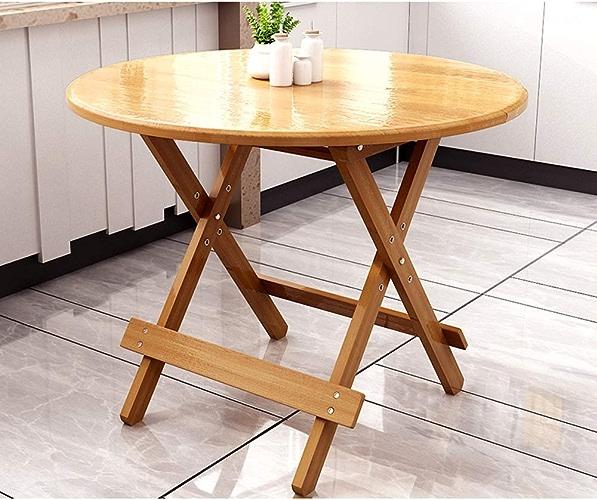 Table Pliante YH Table à Manger Maison Petit Appartement Table Ronde Table Carrée Table à Manger Pliable Simple A+ (Couleur   B, Taille   80  80  66 70 75CM)