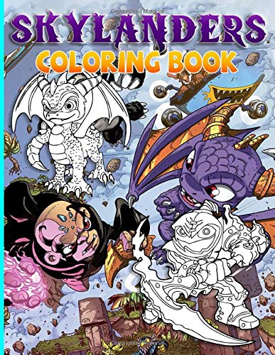 Skylanders Coloring Book: Skylanders Amazing Coloring Books For Adults, Teenagers