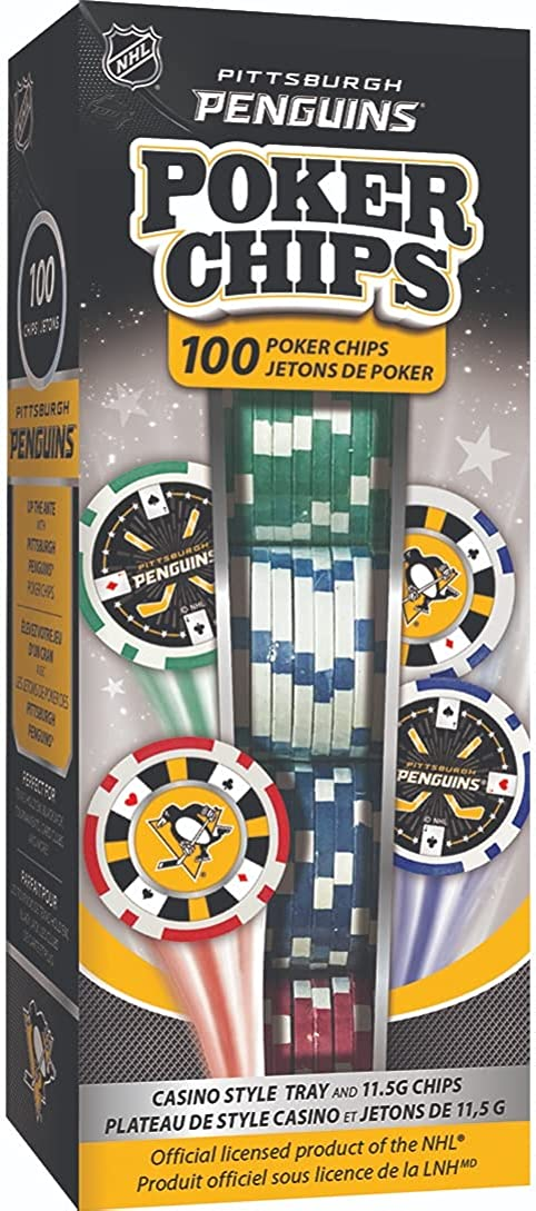 MasterPieces NHL Unisex-Adult Classic Poker Indianapolis Mall 100-Piece Chips