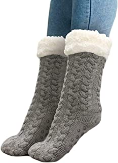 MAI, 1 par de calcetines gruesos de forro polar antideslizante para el hogar