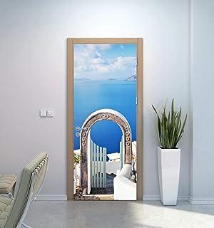 3D Porte Autocollant Sticker Porte 3D Porte Autocollant Grèce Arc Mur Autocollant Diy Porte Couverture Cuisine Décoration ...