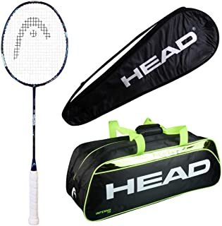 HEAD Head Ignition 400 Badminton Racquet Set with Inferno 70 Green kitbag