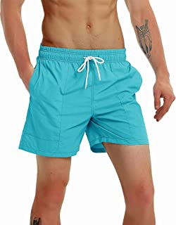 Fashion Short Men's Swim Trunks Boardshorts Quick Dry Beach Wear Shorts with Mesh Lining