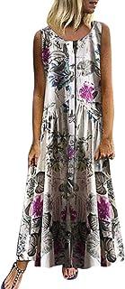 Mujer Verano De Playa Vestido De Verano Vestido Verano Mujer Camiseta AlgodóN Casual Tallas Grandes Vestido De Tallas Grandes De Playa