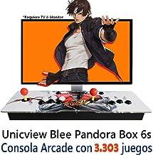 Unicview Consola de Videojuegos Jamma Pandora´s Box 6S (Versión actualizada para 2020) 3303 Juegos Versiones Originales (Neogeo, CPS1, CPS2, CPS3 y Mucho más) fácil de configurar, Incluye 2 Stick