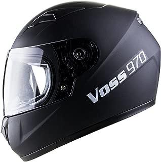 Voss 970Y Youth/Kids Full Face Helmet. DOT - L - Matte Black