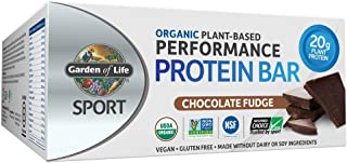 Garden of Life Sport Protein Bars, Organic Plant Based High Protein Bars - Chocolate Fudge, 20g Pure Protein per Bar, 3.5g...