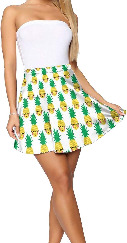 JJCSTE.C Colorful Cartoon Cars Women's Skater Skirt High Waist Short Skirt