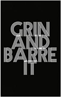 Stuch Strength Funny Weight Loss - Grin and Barre It - Exercise Workout Humor - Poster