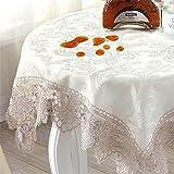 ヨーロピアンスタイルの 防水アンチ油ファブリック レース テーブルクロス 美しい装飾ジャカード トップデコレーション 長方形 約 60x120cm