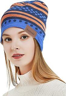 SuMade Waterproof Beanie Hat, Unisex Lightweight Soft Winter Ski Running Knitted Acrylic Slouchy Skull Cap Anti UV