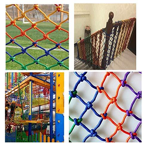 N / A Filet de sécurité pour Jardins d'Enfants, Balcon d'escalier Filet Anti-Chute pour Enfants, Filet d'Escalade pour Aire de Jeux, Filet de décoration de Plafond, Filet de Corde en Filet(Size:4×8m)