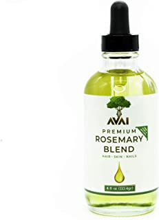 Premium Rosemary Natural Oil Blend with Grape Seed, Sunflower, Almond, and Vitamin E, Face and Body Moisturizer, Scalp, Na...
