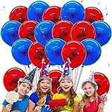 Qemsele Globos para Fiestas de Niños, 50Pcs Globos Fiesta Cumpleaños Decoración Dibujos Animados 12inch Globos de Latex con Confeti Dentro y Cintas, para Favores Regalo Carnaval Boda (Spiderman)