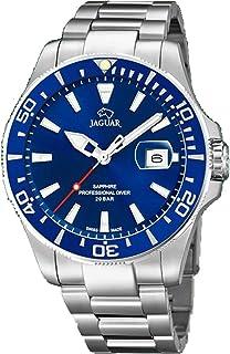 JAGUAR J860/C-Orologio da Uomo della Collezione Executive, Cassa da 43,5 mm, Blu con Cinturino in Acciaio J860/C