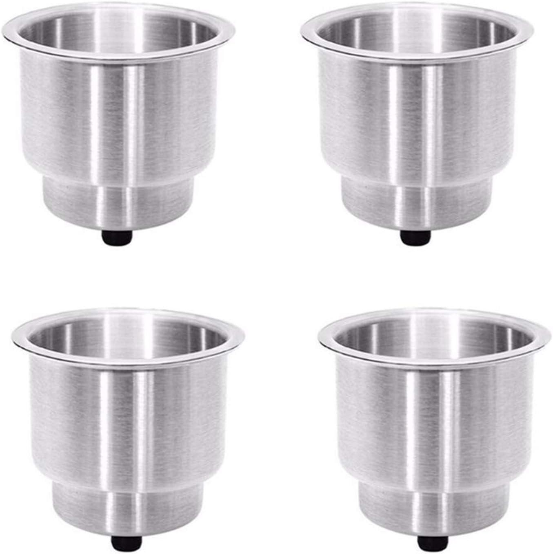 Credence Ranking TOP4 AFTWLKJ 4PCS Embedded Stainless Steel Cup Holder Beverage Bottle