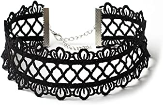 PIXNOR Choker Necklace Lace Tattoo Gothic Stretch Set