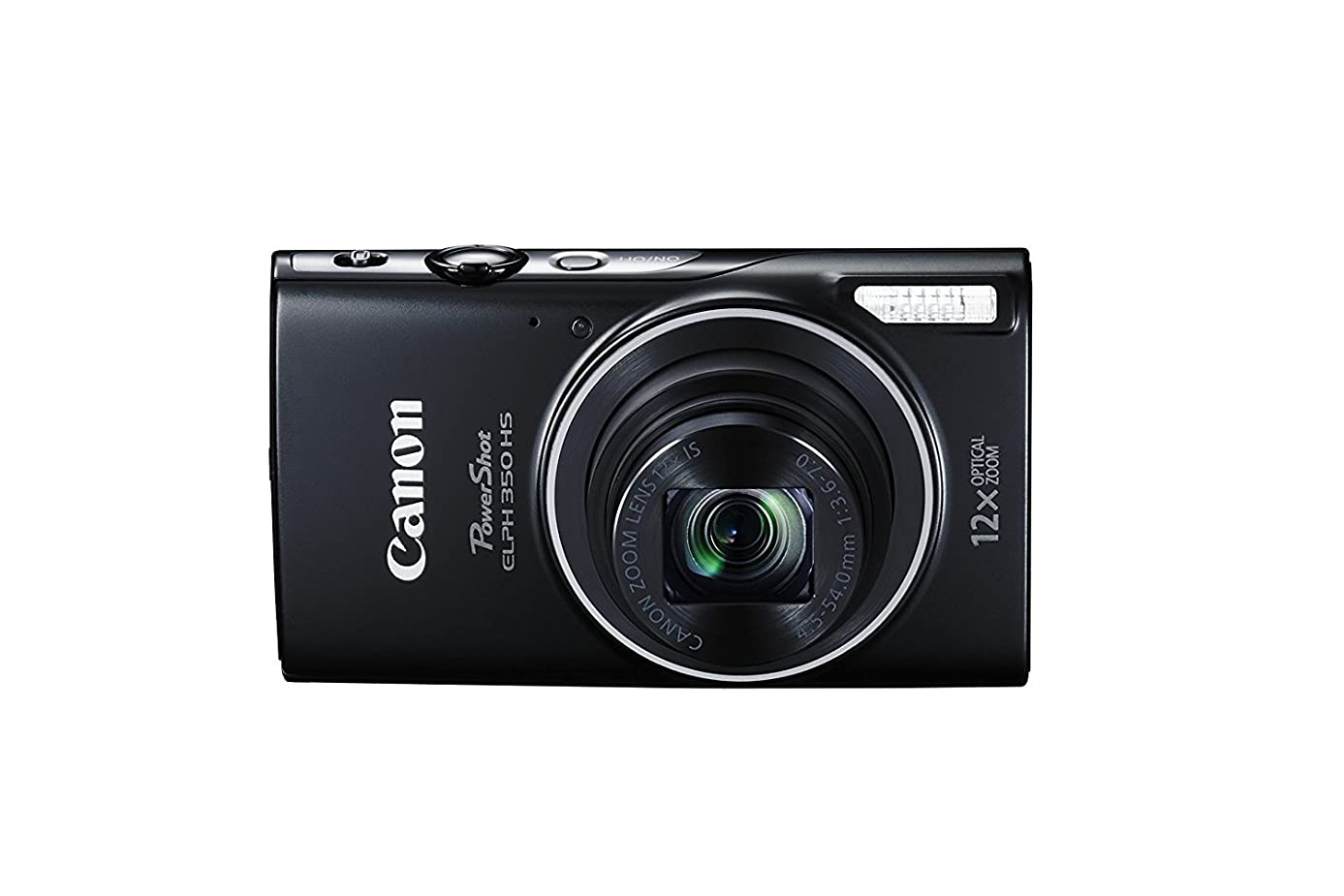 Canon PowerShot ELPH 350 HS 20.2 MP digital camera with 12x Optical Zoom (25–300mm), Built in NFC and WiFi, 1080P full HD video and 3.0 inch LCD (Renewed)