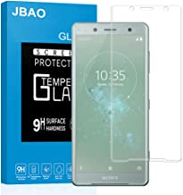 Sony Xperia XZ2 Compact Screen Protector,Jbao Direct [3D Curved Protection] [Easy Installation] [Anti-Fingerprint] 9H Hardness Tempered Glass Firm Protector for Sony Xperia XZ2 Compact (Clear, 3D)