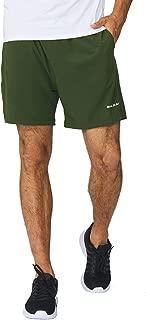 Men's 5 Inches Running Athletic Shorts Zipper Pocket