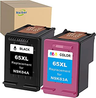 Neiber Remanufactured Ink Cartridge Replacement for HP 65XL 65 XL (Black Tri-Color 2-Pack) Work with DeskJet 3755 2655 262...