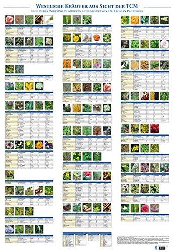 Plakat Westliche Kräuter aus Sicht der TCM mit 122 Abbildungen