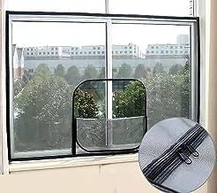 Window Fly Screen Mesh,Insect Window Net met rits, Cat Protection Net, Opening en Sluiting Muggenbestendig Netting, Indoor...