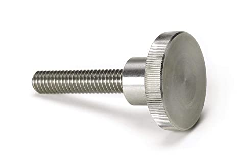 Made in US Oversized Head Knurled Head 5//16-18 UNC Threads 300 Series Stainless Steel Thumb Screw Plain Finish Fully Threaded 3//4 Length